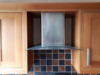 Stainless steel chimney hood, 60cm. Still in box