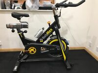 Brand new Bodymax B15 spin bike/exercise bike with LCD monitor. Newly assembled today,