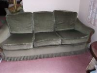 green 3 piece suite FREE