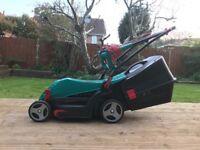 Bosch Rotak 340ER Lawnmower with Rear Roller
