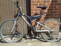 Adults mountain bike ,full suspension,Harlem Blackline
