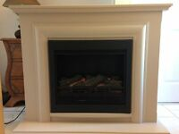 Gorgeous Cream Fire Surround with Black Electric Fire