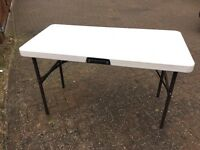 Fold Up Table from Lifetime Range - 180cm x 78cm - Folds to 90cm - Used but Good