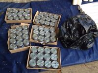 Bargain Bundle - 72 tins of Dulux 0.25l tins, variety of colours, unopened, ideal for Arts and Home