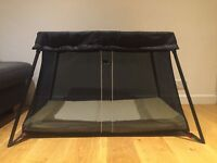BabyBjorn Travel Cot Light, Black - excellent condition