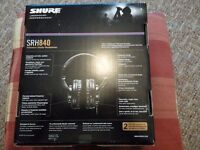 Shure SRH840 Professional Studio Headphones - Black *SEALED BRAND NEW*