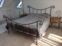 Beautiful handmade king size wrought iron bed