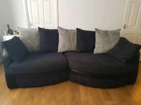 Four seater angled sofa