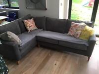 Corner sofa light graphite