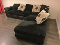 Half leather module sofa can deliver