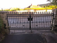 Used driveway gates, galvanised and powder coated