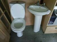Toilet and washhand basin