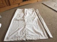 Ladies white summer skirt
