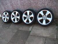 "Vauxhall Astra J 19"" Inch 5 Spoke SRI/VX-LINE Alloy Wheels & Tyres. 19x8J. 5X115"