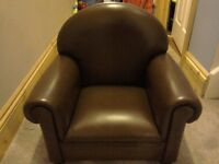 Kids leather arm chair