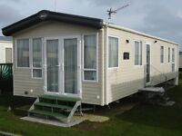 A NEW 8 BERTH PLATINUM CARAVAN FOR HIRE ON BUNN LEISURE WEST SANDS PARK IN SELSEY WEST SUSSEX