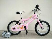 "(2727) 14"" Lightweight Aluminium RIDGEBACK Bike Bicycle+STABILISERS Age: 3-5, 95-110cm"