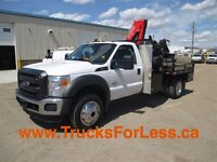 2013 Ford F-550 CHASSIS CAB 4X4, PICKER + SERVICE DECK!!!