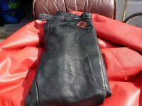 LEATHER MOTORCYCLE TROUSERS in GOOD CONDITION ..ONLY £15