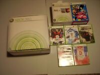 XBOX 360 Console, with games + extra controller + DVD remote - comes with original box