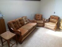 berger sofa and two berger chairs
