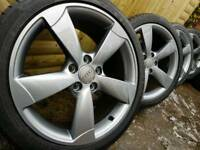 "18"" Audi a3 black edition alloy wheels (( genuine))"