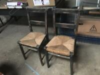 Pair of chapel chairs