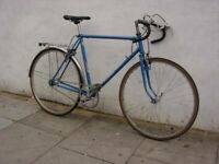 arge Mens Fixie/Single Speed, Blue, Old School L Steel Lugged Frame, JUST SERVICED / CHEAP PRICE!!!