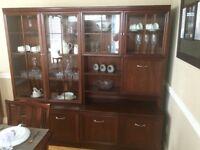 G Plan Garrick Mahogany Display Cabinets Corner Units Drop Leaf Dining