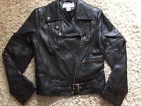 Black leather warehouse ladies size14