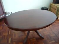 Mahogany Oval Table