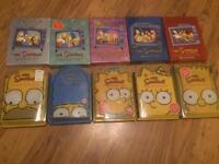 The simpsons seasons box sets 1-10 ex condition