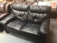 Black 2 seater sofa (FREE DELIVER WITHIN 10 MILE)