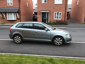 Grey Audi A3 for sale with full service history and MOT until March 2019
