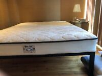 Sealy Queen Size mattress + black frame - £50