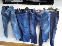Bundle of next jeans 5 pairs age 7. Next tracksuit top age 7 blue, grey next shirt tshirt