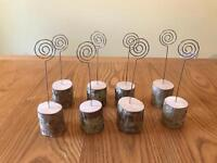 Wooden/Rustic table number holder -8