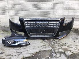 Audi A4 b8 s Line 2008 2009 2010 2011 2012 Genuine front bumper + driver Led xenon headlight