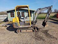 Volvo EC15B 1.5 tonne Mini digger 2004 Low hrs Good digger
