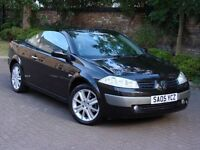 EXCELENT EXAMPLE! 2005 RENAULT MEGANE 1.6 VVT 115 DYNAMIQUE PANROOF CONVERTIBLE, ONLY 52000 MILES