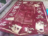 Wine and cream rug 10ftx8ft £20