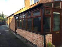 Solid Hardwood Mahogany Conservatory/Lean-to