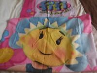 Fifi And The Flowertots Reversible (Double Sided) Single Duvet Set Used Once Excellent Condition