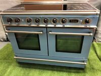 Lovely Falcon Continental 1092 Range cooker Double Oven Blue and chrome INC VAT
