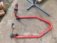 Motorcycle paddock stand choice of 3 £20 each all fit for purpose