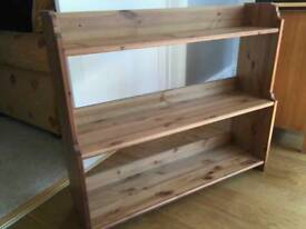 Beautiful solid wood pine bookshelf from ikea