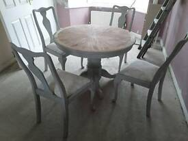 Grey table and chairs pick up skeleton