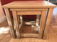 Light Oak coloured Nest of Tables