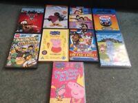 9 children's dvds