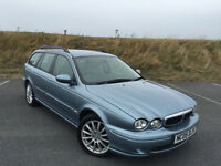 LOW MILEAGE 2005 JAGUAR X-TYPE ESTATE TURBO DIESEL FULL SERVICE HISTORY STUNNING CAR